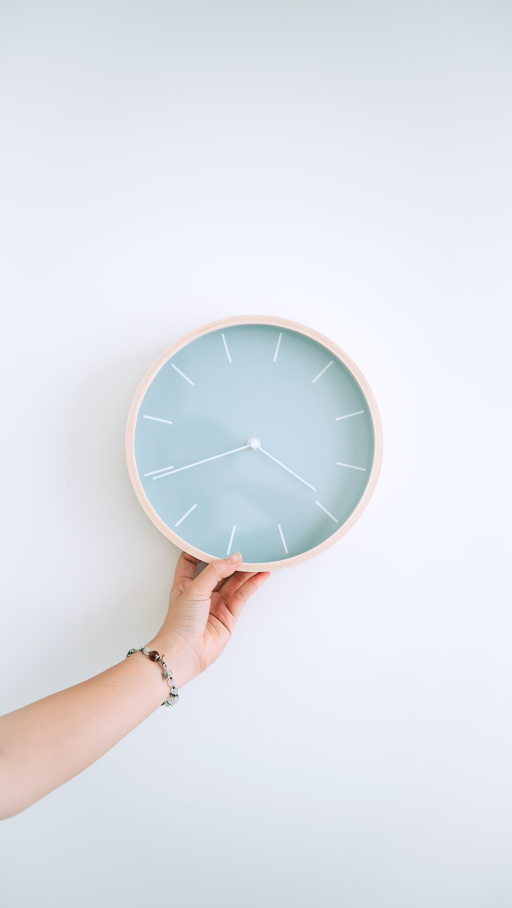 round grey wall clock