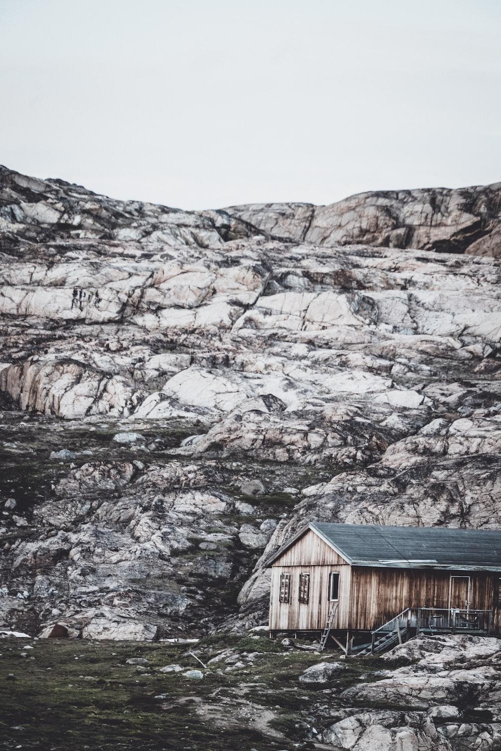 house beside mountain
