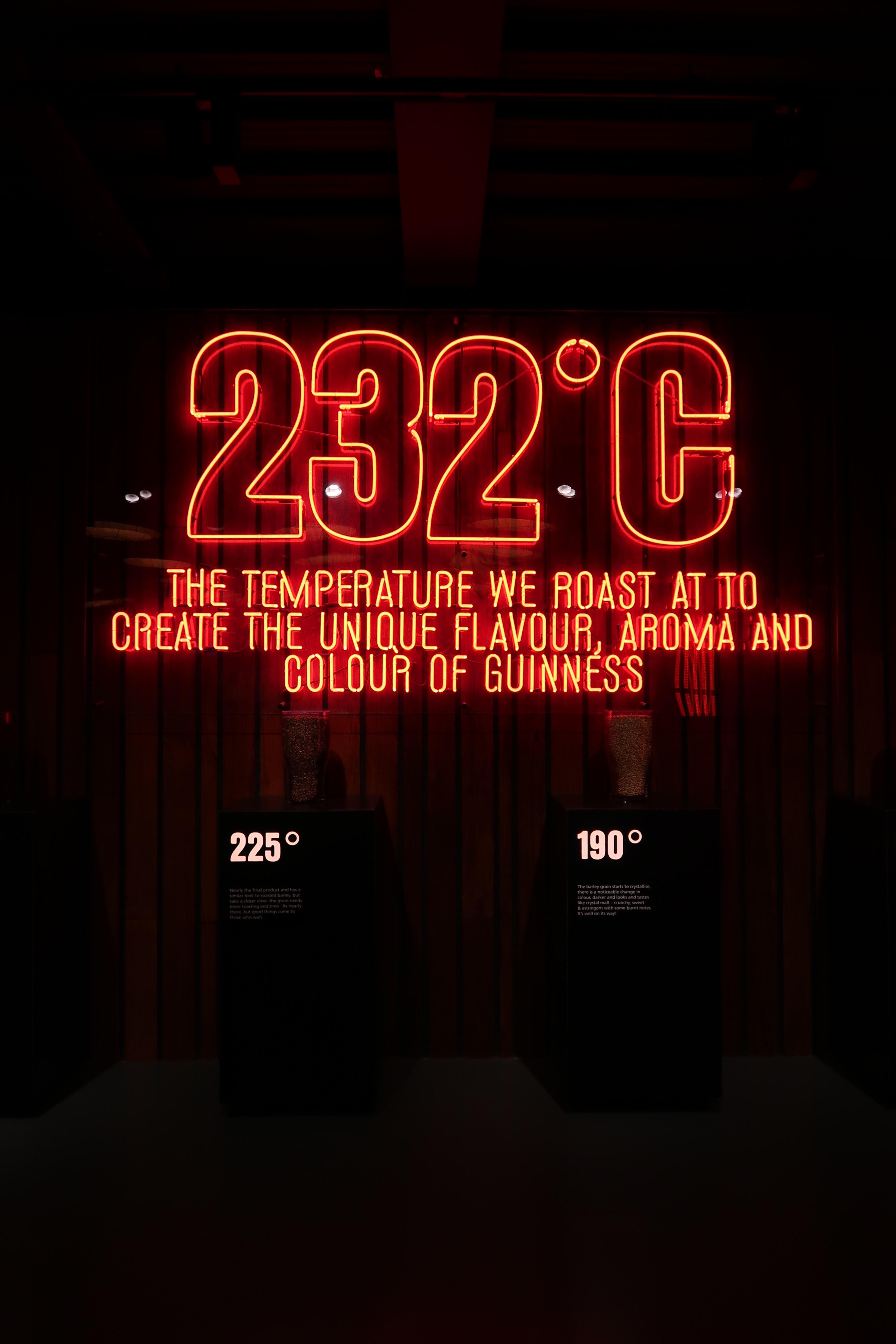 232 degrees Celsius neon signage