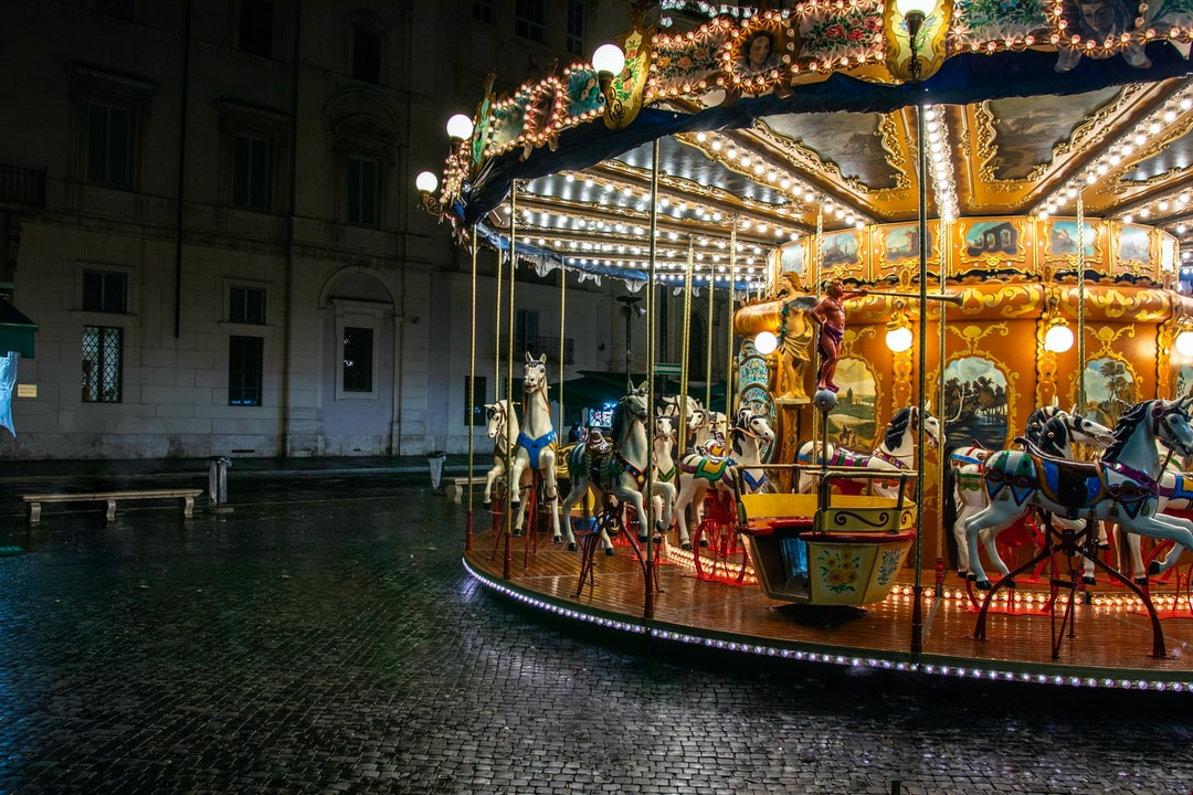 Walked around PIazza Navona which wasn't as crowded as expected, saw this carousel that took me back to the days before myself.