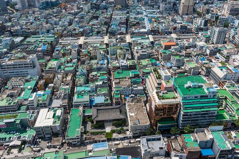 Coldest places in South Korea by minimum mean temperature