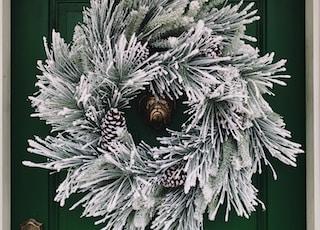 round white wall wreath illustration