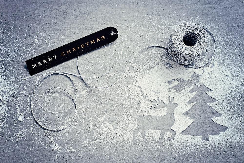 black Merry Christmas signage