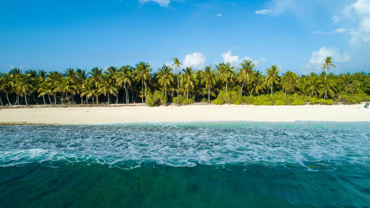 An island in the Maldives