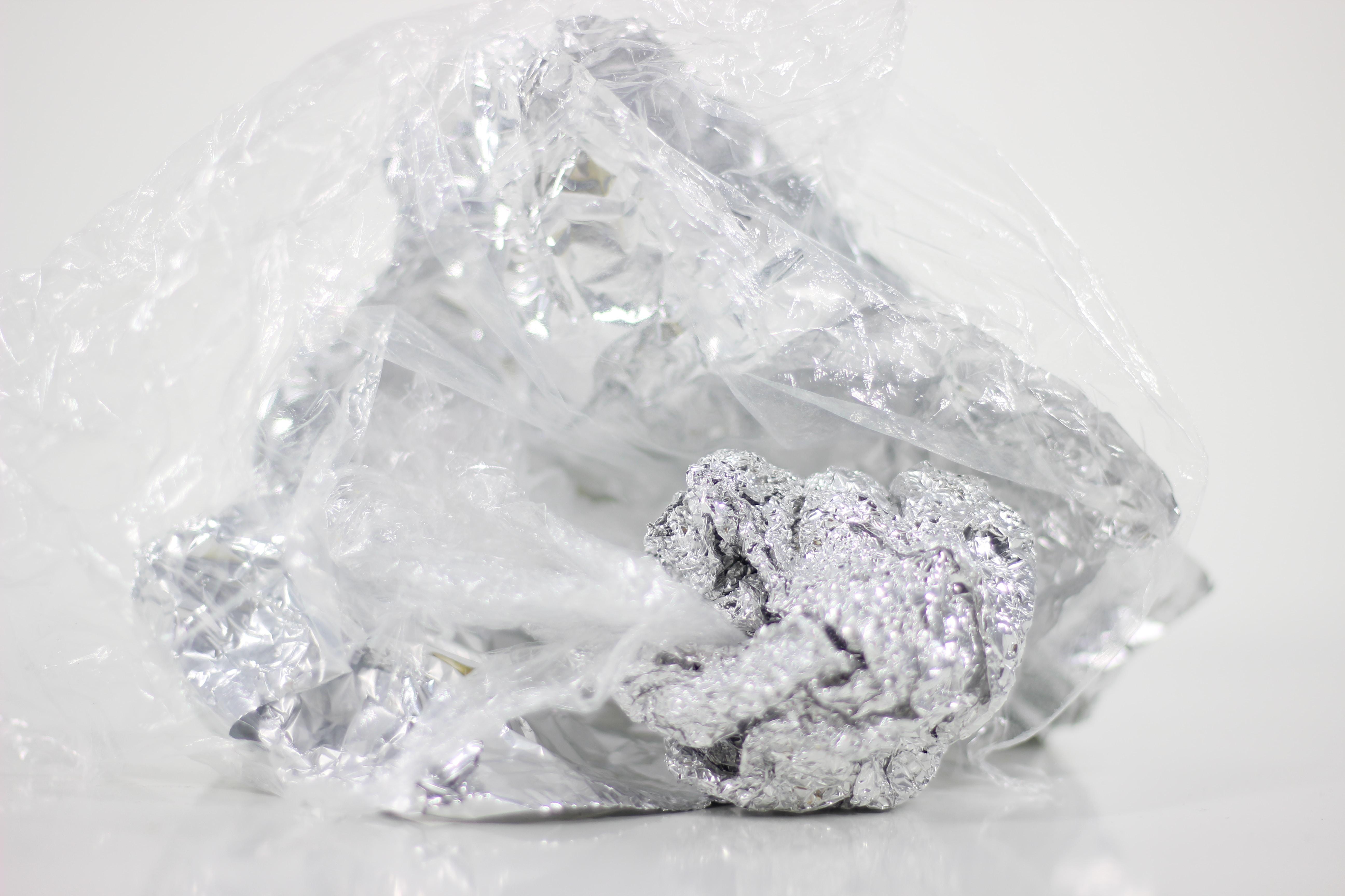 white and black stone fragment
