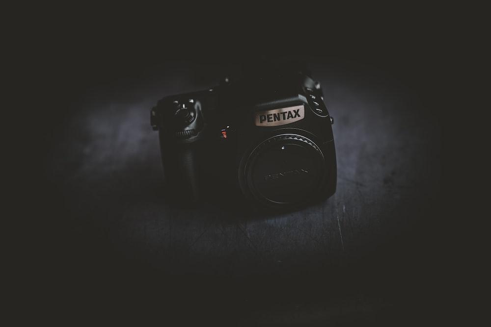 black Pentax camera