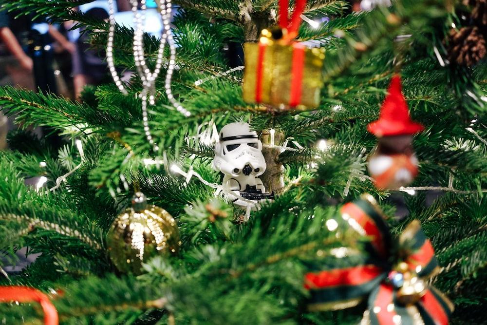 Star Wars Stormtrooper hanging decor on Christmas tree