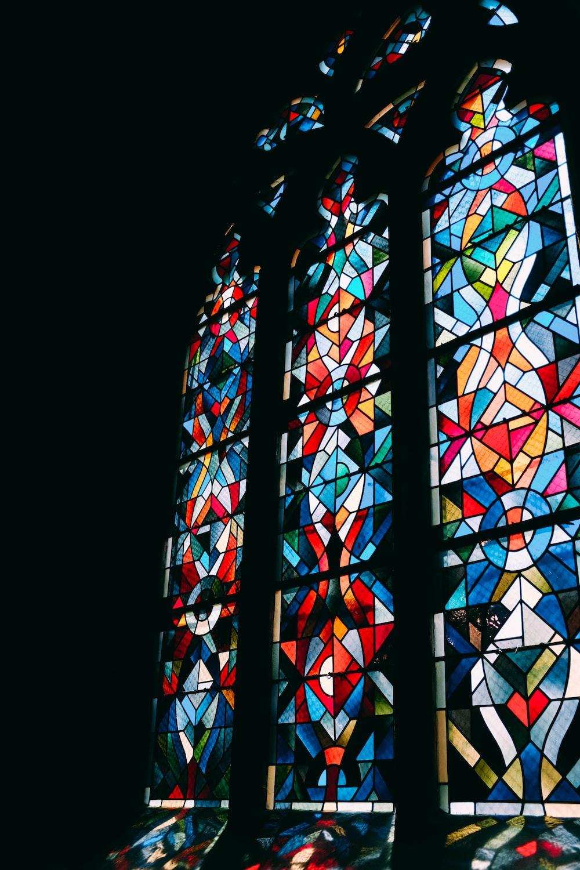 multicolored glass window
