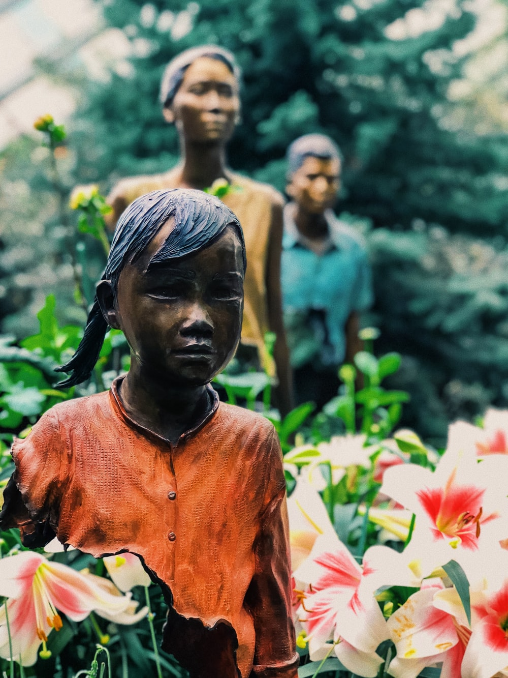 three statue