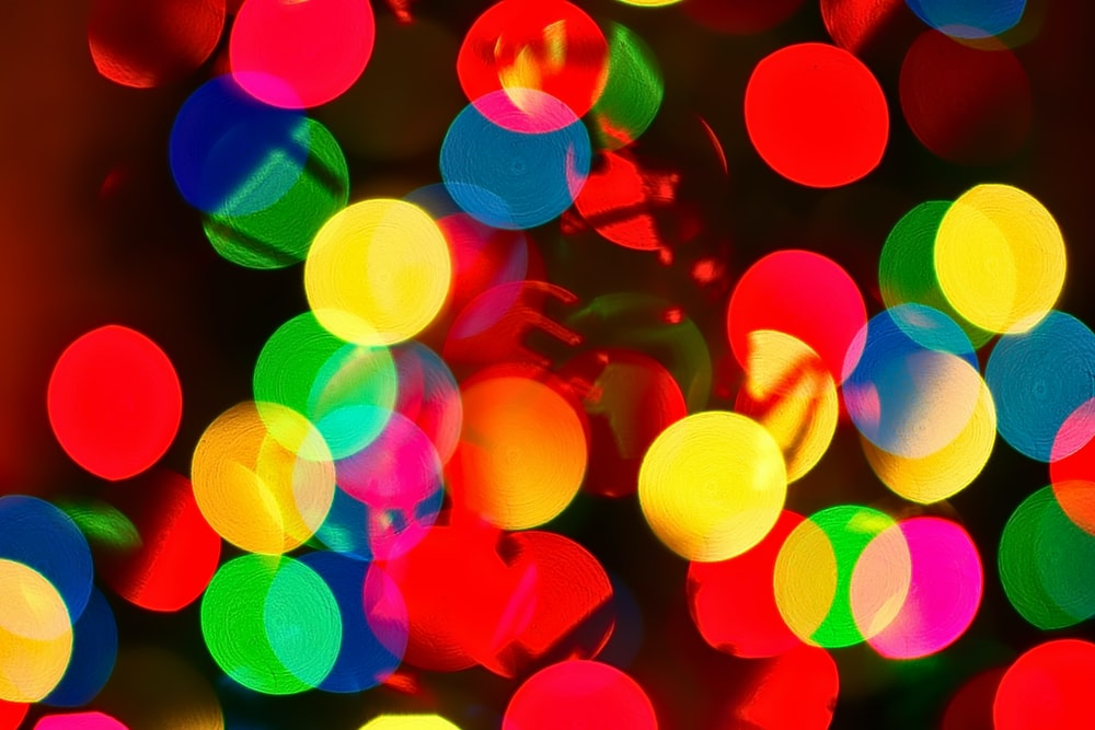 assorted-color bokeh lights