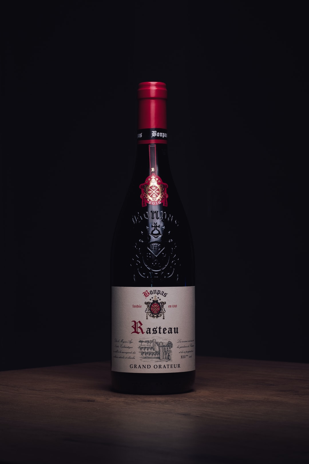 Packshot Vin Rouge