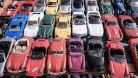 assorted car die cast models