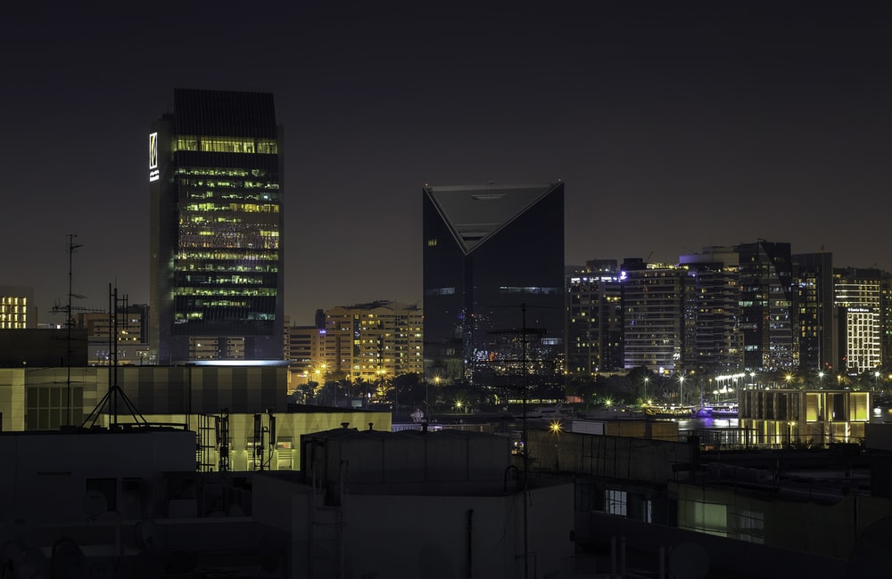 buildings during nighttime