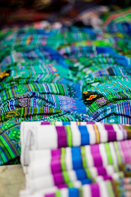green and multicolored apparel lot