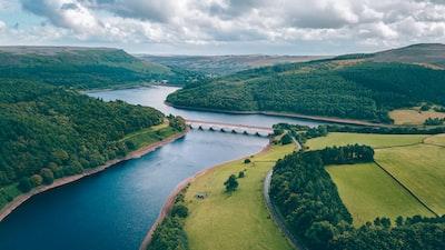 bridge between islands river zoom background