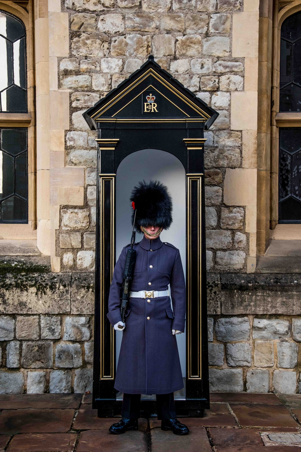 royal guard standing near booth