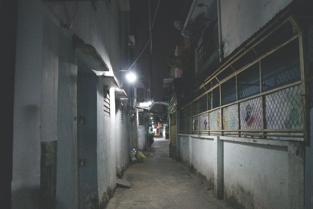 pathway surrounded by building