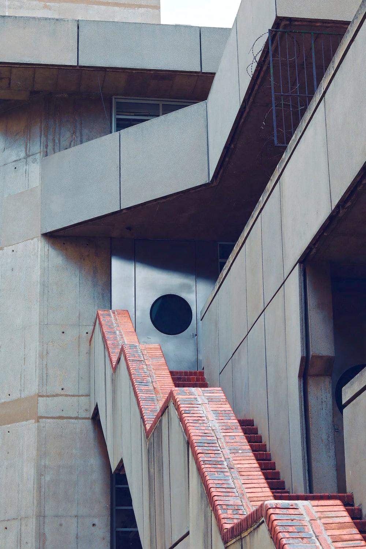 brown brick stairs