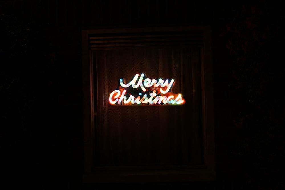 Merry Christmas LED signage