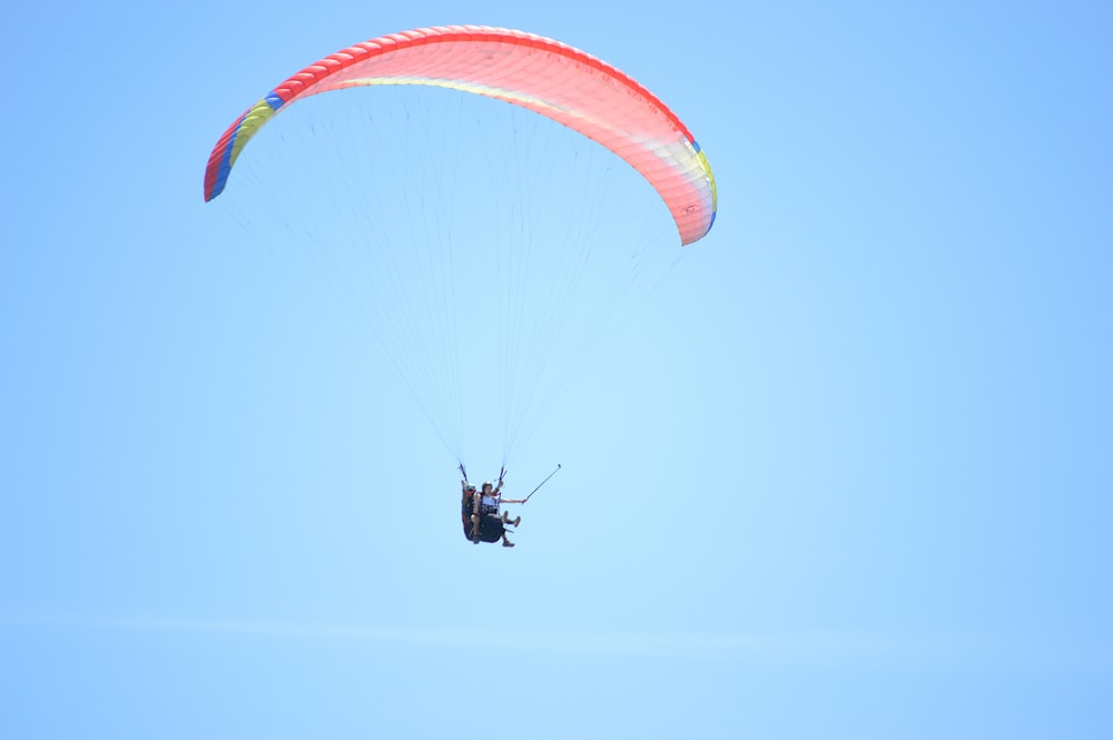 person parachuting