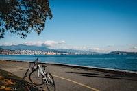 black and blue mountain bike