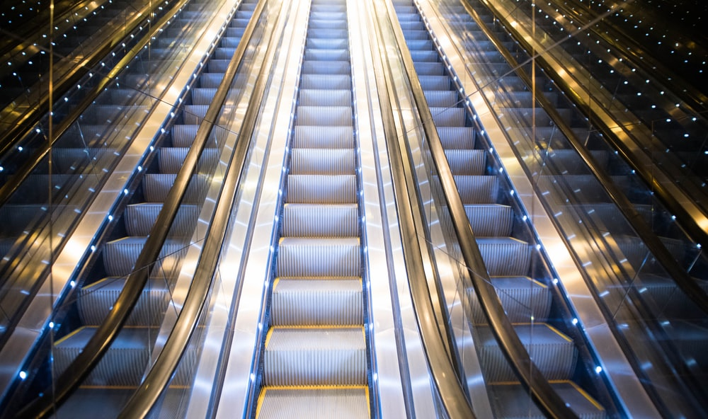 gray escalator
