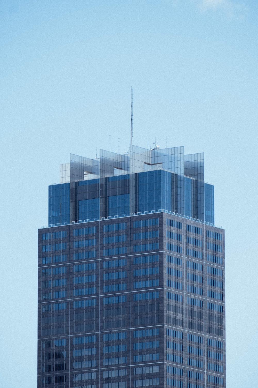 blue building under blue sky