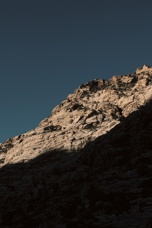 grey rock mountain at daytime