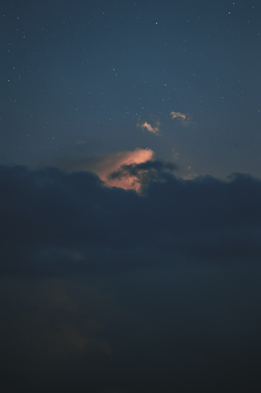 clouds during night