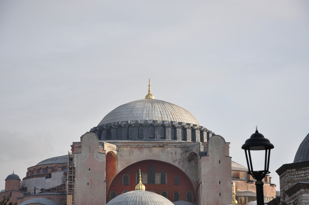 low angle photo of mosque