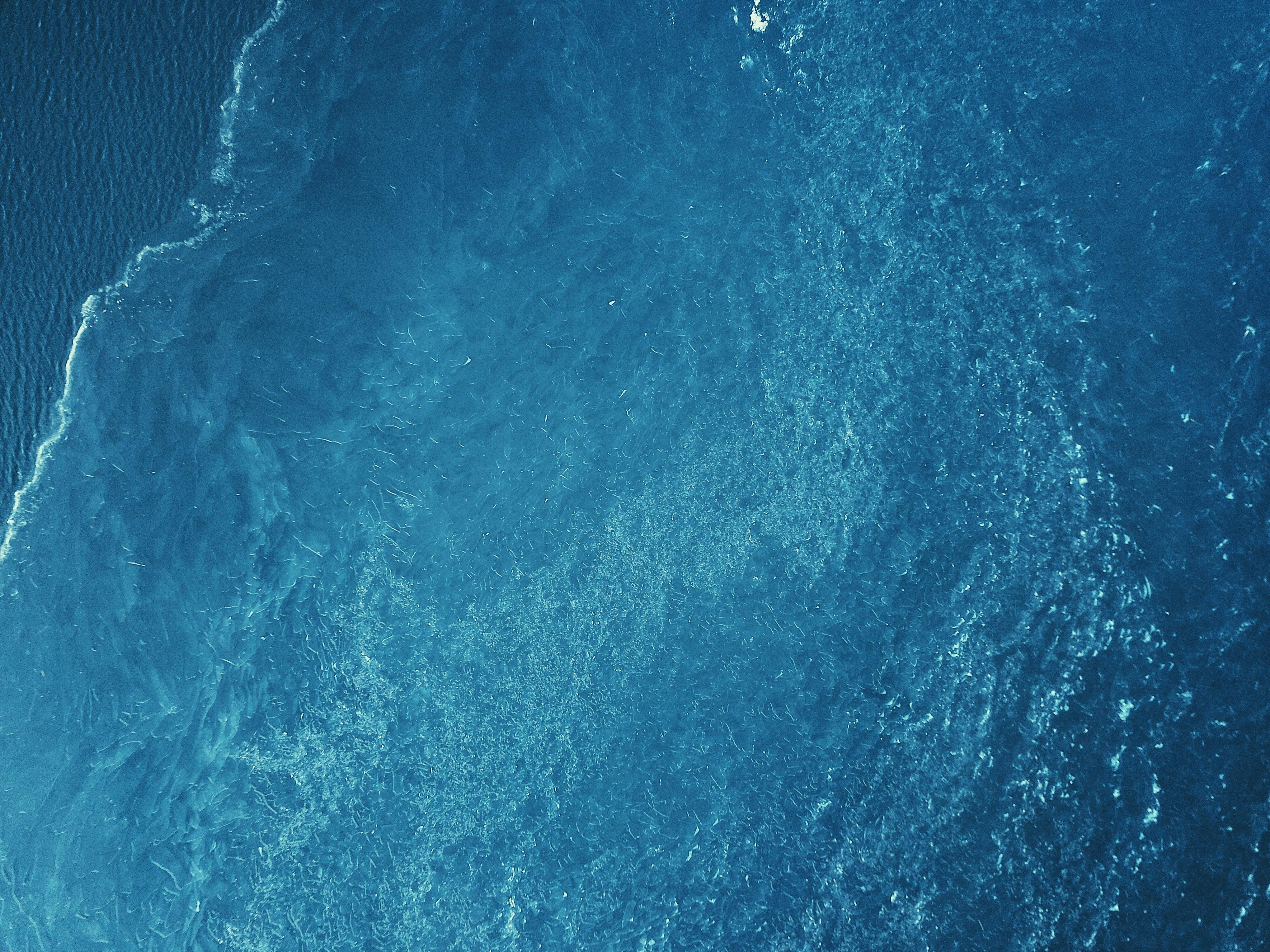 bird's-eye view of body of water