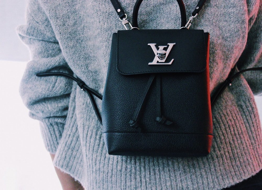 black Louis Vuitton backpack