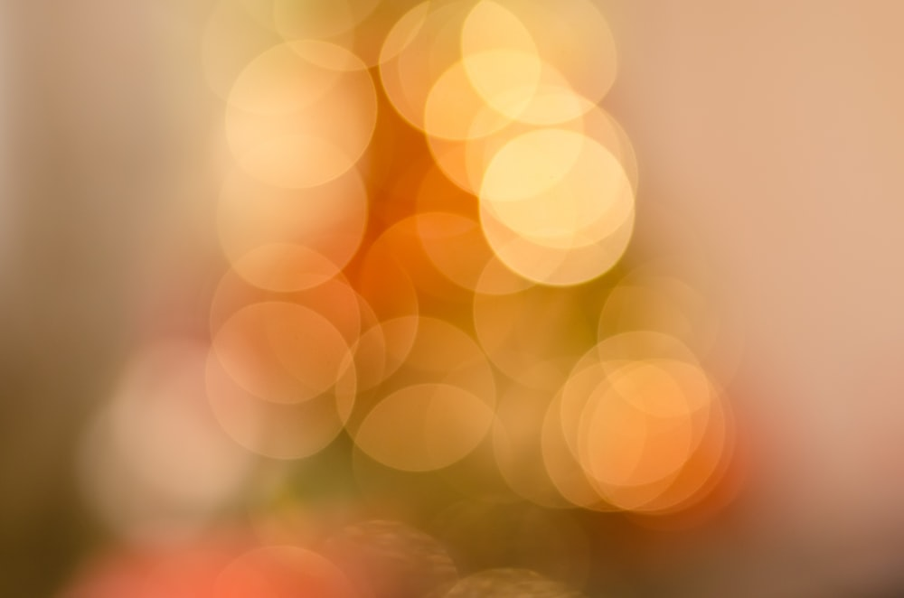 orange bokeh lights