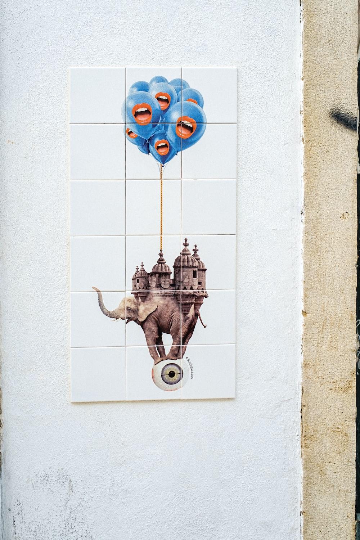 gray elephant illustration