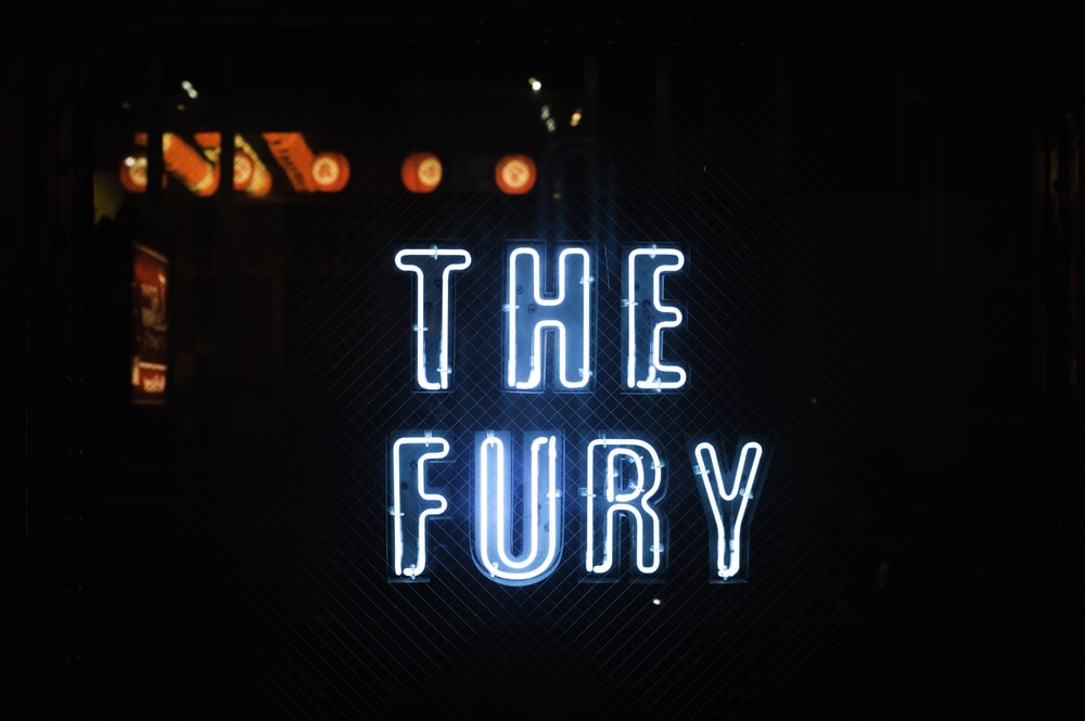 blue The Fury neon light sign