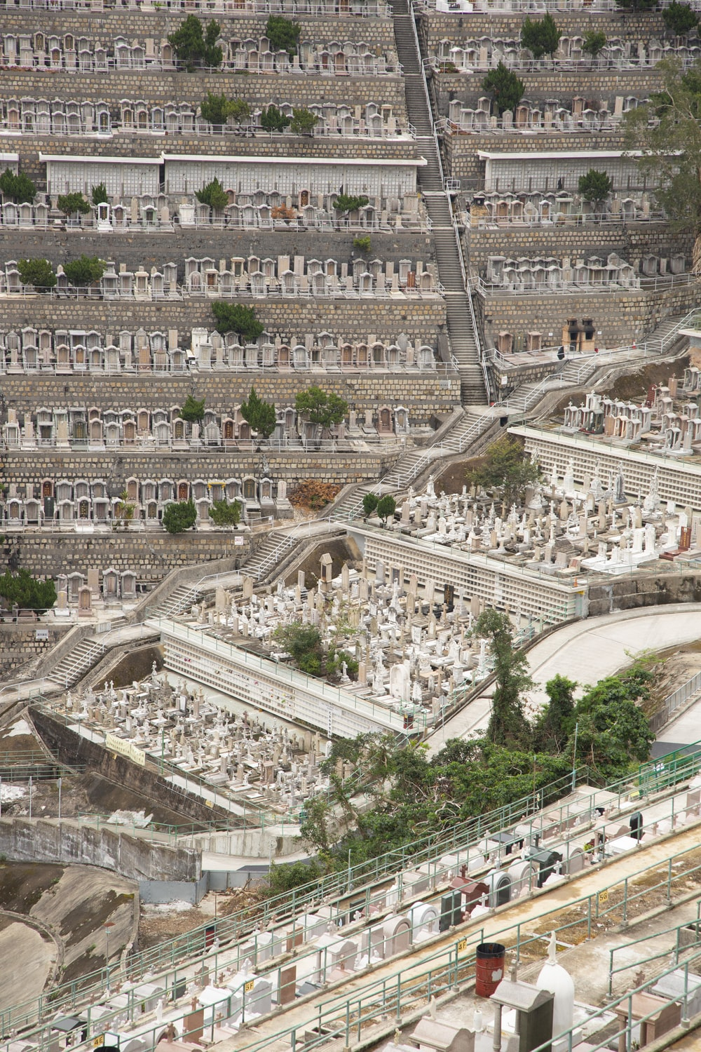 gray concrete tombs on cemetery screenshot