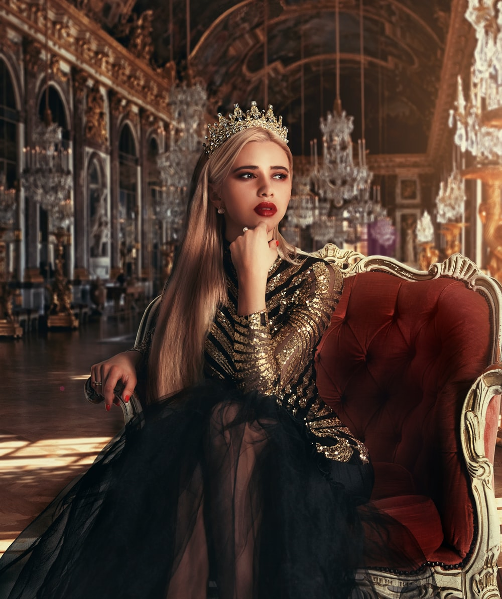 Beautiful Crown Black Queen Girly Wallpaper Wallpaper Theme Walls