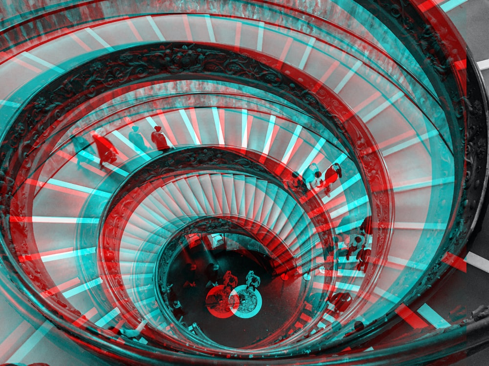 spiral concrete stairs