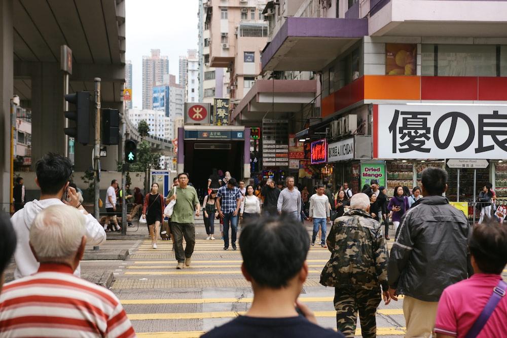 people walking on pedestrian lane at daytime