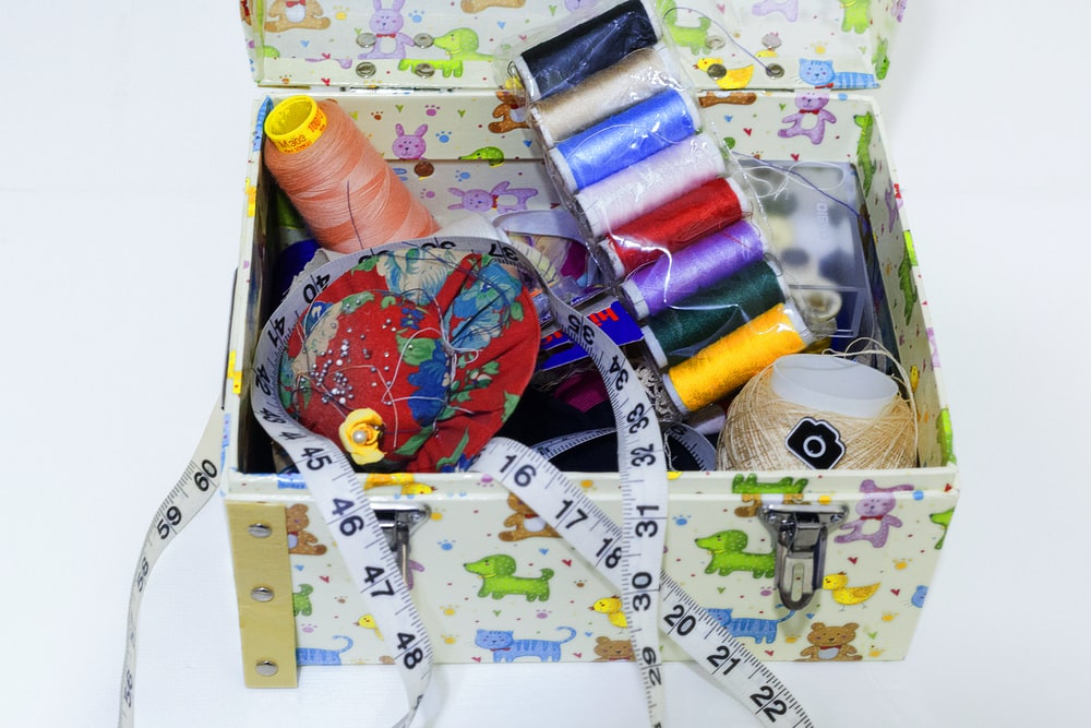assorted-color thread lot