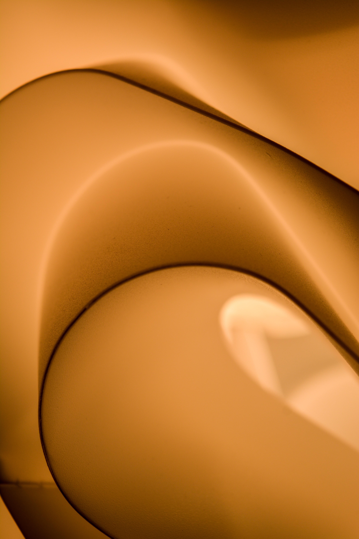 orange and white ceramic plate