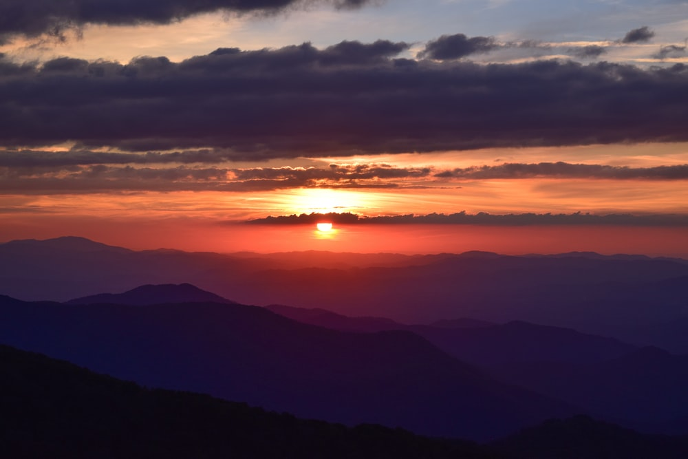 Best sunsets in the US, prettiest sunsets in the US, where to see the best sunsets in asheville, where to see the best sunsets in the USA