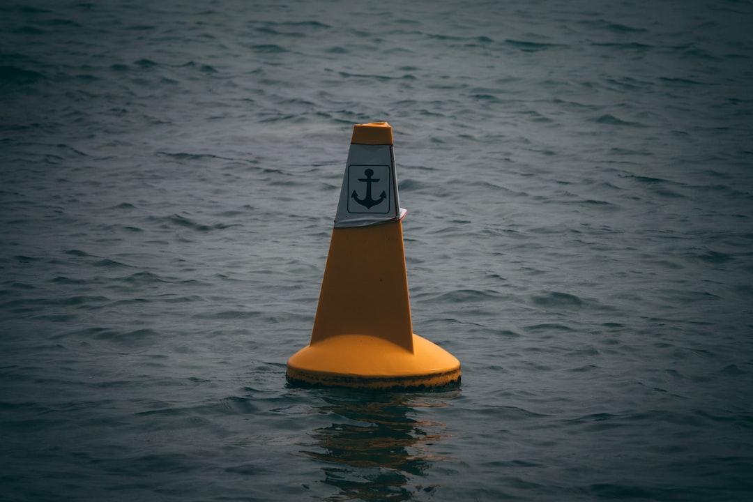 Yellow buoy in the ocean