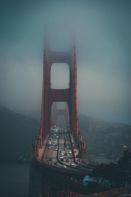 Golden Gate Bridge during foggy weather