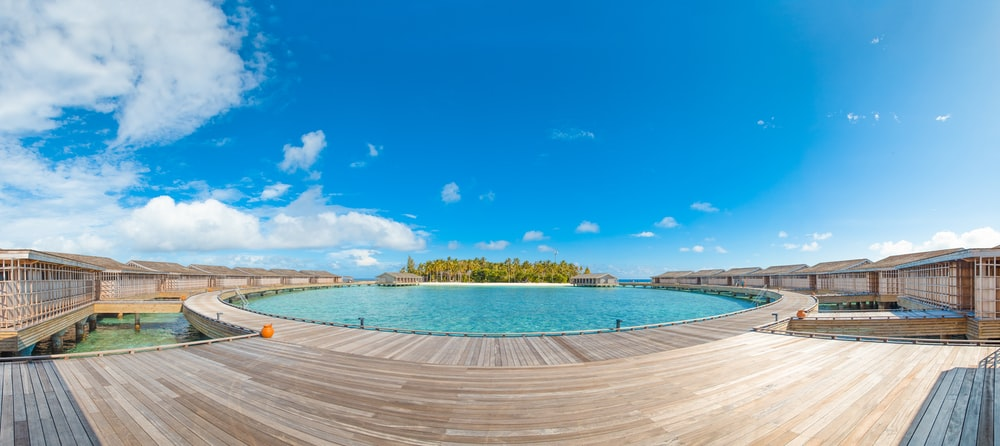 swimming pool under blue sky during daytime