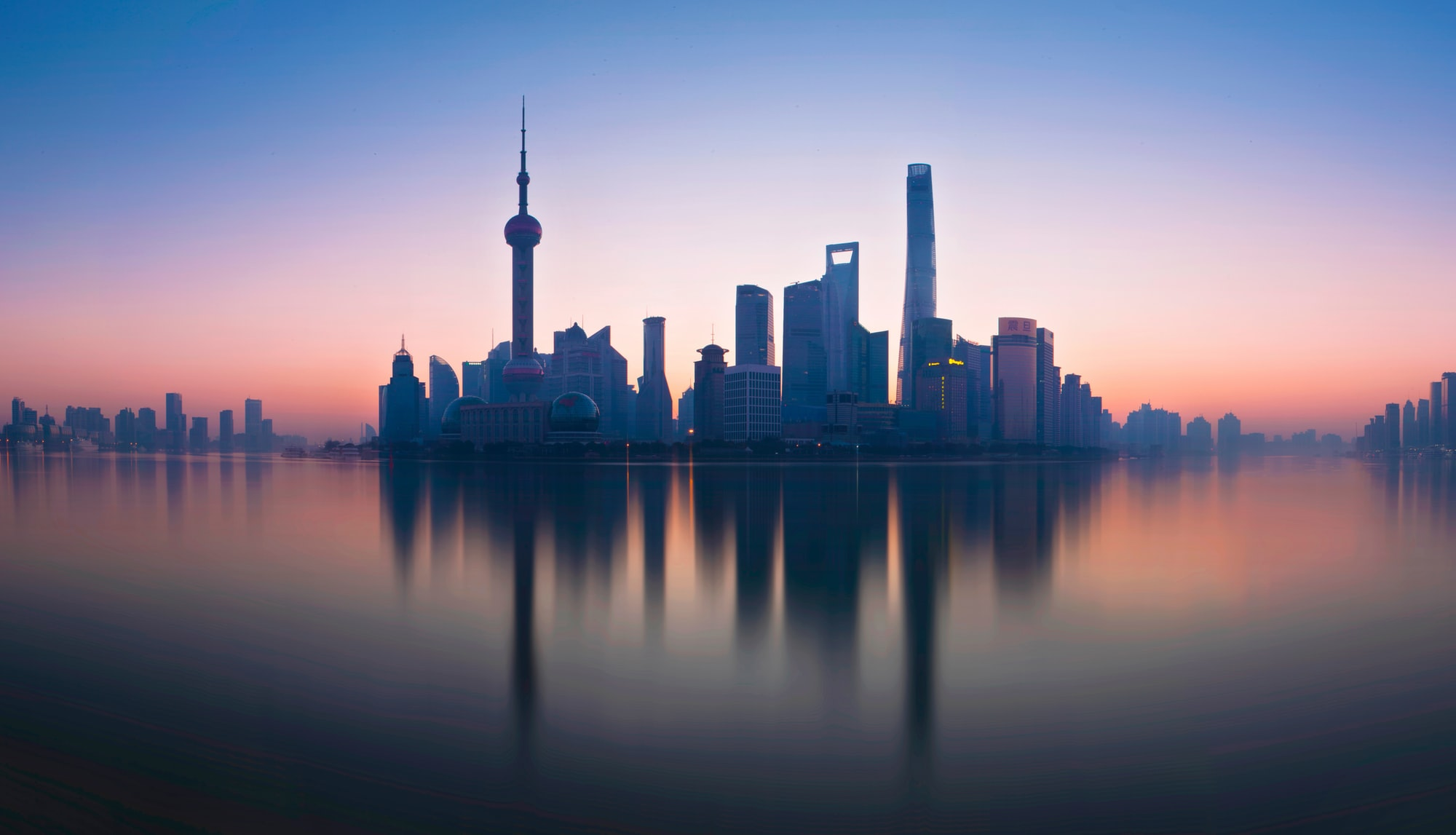 The view of lujiazui from the bund