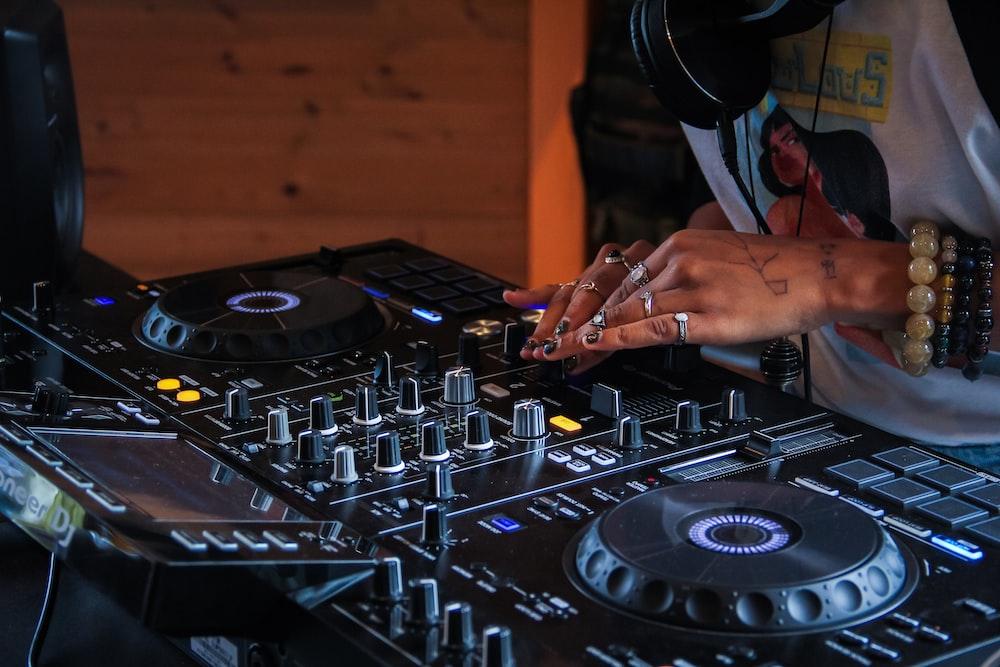 person playing DJ terminal