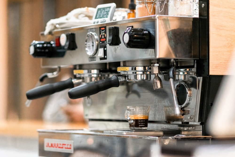 silver espresso machine