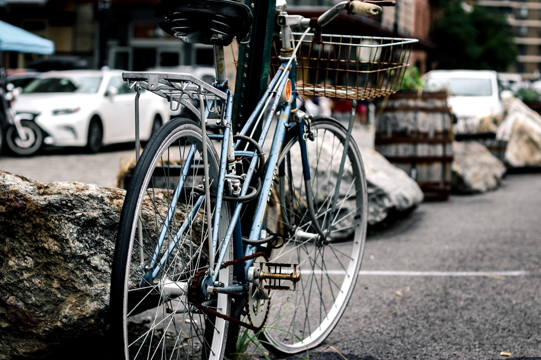 black and gray city bike