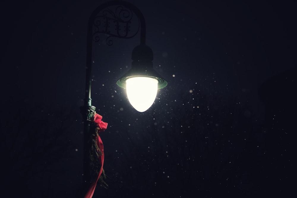 lamp turned on